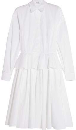 Givenchy Cotton-Poplin Peplum Shirt Dress