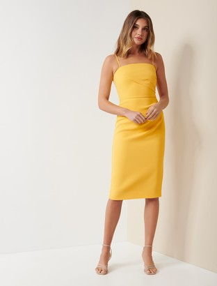 Forever New Lucy Strappy Midi Dress - Honey Dew - 12