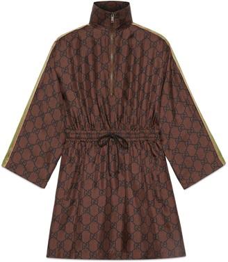 Gucci GG Supreme print silk dress