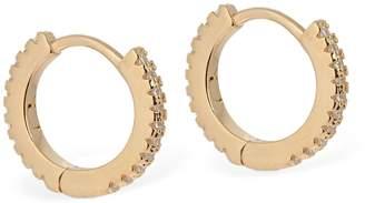 FEDERICA TOSI Mini Hoop Earrings W/ Crystals