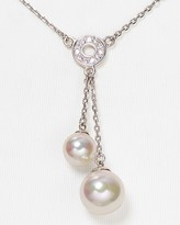 Majorica Organic Man-Made Pearl Lariat Necklace, 16""