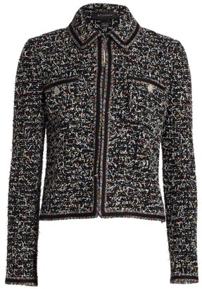 St. John Kaleidoscope Wool-Blend Tweed Jacket