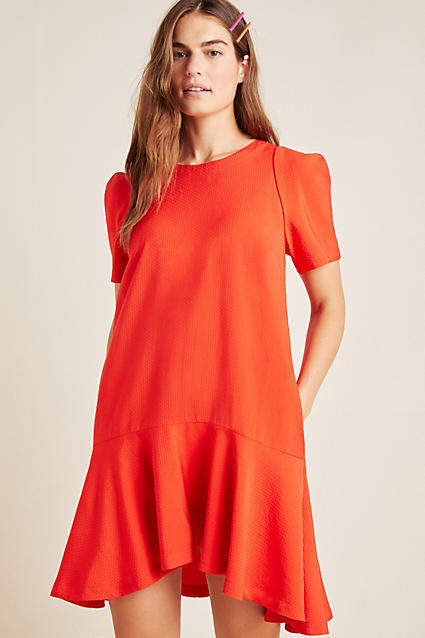 Maeve Rousseau Flounced Mini Dress