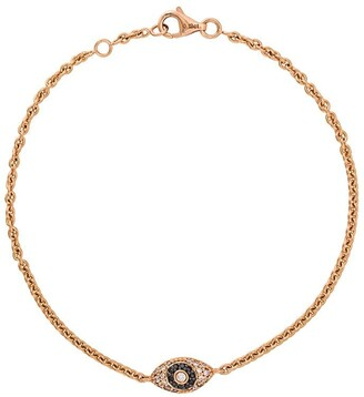 ALINKA Evil Eye 18kt rose gold diamond bracelet
