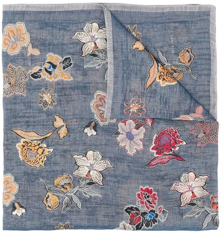 Etro fil-coupé floral scarf