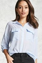 Forever 21 Pinstripe Button-Front Shirt