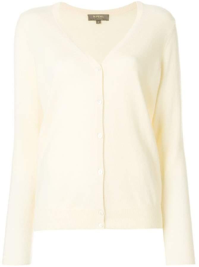 N.Peal cashmere V-neck cardigan