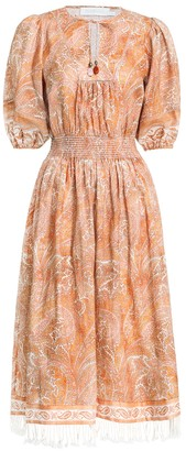 Zimmermann Brighton Shirred Waist Dress