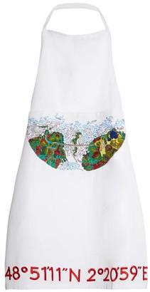 Kilometre Paris - Cuixmala Mexico Embroidered Cotton Apron - Womens - White Multi