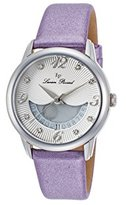 Lucien Piccard Women's 'Bellaluna' Swiss Quartz Stainless Steel and Leather Casual Watch, Color:Purple (Model: LP-40034-02-PPSS)