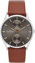Skagen Skw6086 Holst Brown Leather Gents Watch