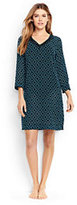 Lands' End Women's Petite Embroidered Woven Tunic Cover-up-Black/Scuba Blue Star Geo