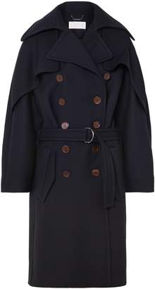 Chloé Double-breasted Wool And Silk-blend Twill Coat