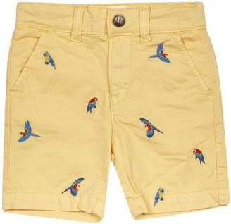 AO76 Embroidered Bird Shorts