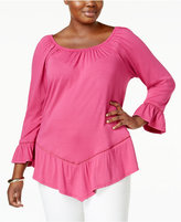 NY Collection Plus Size Off-The-Shoulder Top