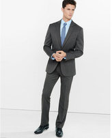 Express modern producer gray wool blend twill suit pant