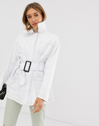 Asos DESIGN utility belted jacket