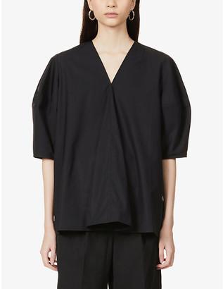 Studio Nicholson Convex-sleeve cotton top