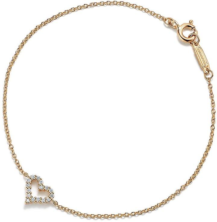 Tiffany & Co. Heart bracelet in 18k gold with diamonds, medium