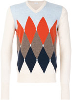 Ballantyne diamond print sweater