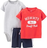 Carter's Baby Boys 3pc Bodysuit, Tee & Shorts Set