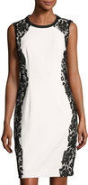 T Tahari Lace-Trim Sheath Dress