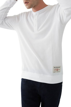 True Religion Long Sleeve Henley Thermal Top