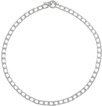 WWW.WILLSHOTT Silver Square Curb Chain Necklace