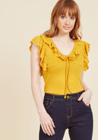 ModCloth Get What Uke Deserve Top in Sunflower in L