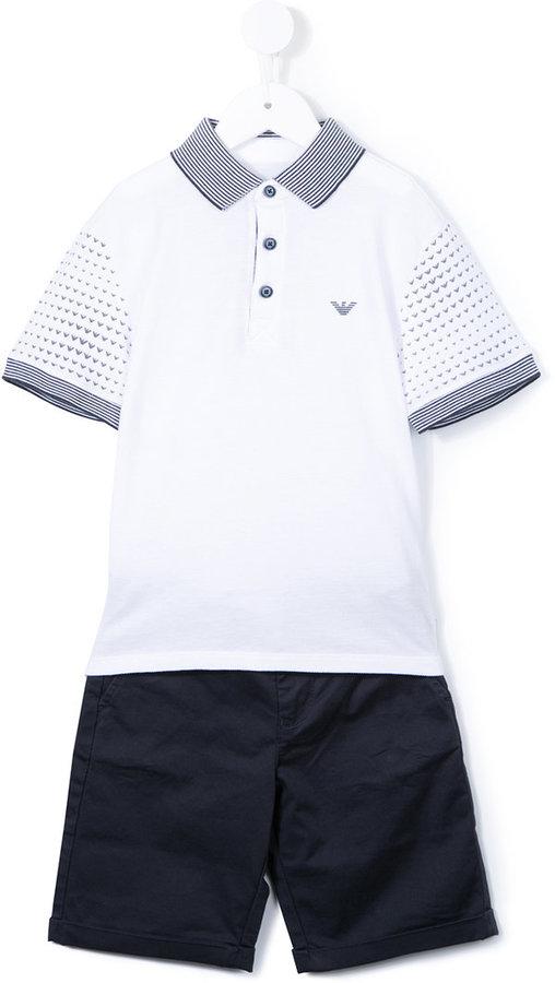 Armani Junior polo shirt and shorts set