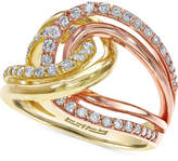 Effy Diamond Two-Tone Ring in 14k Gold (3/4 ct. t.w.)