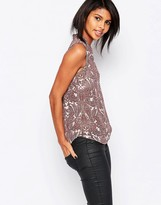 Vila Wrap Front Shirt In Paisley Print