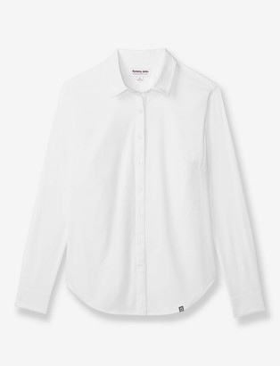 Tommy John Women's Go Anywhere Slim Fit Button Down Shirt