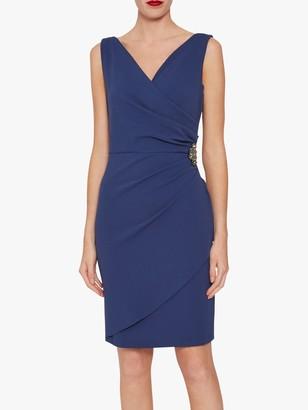 Gina Bacconi Terri Jewel Embellishment Tailored Stretch Dress