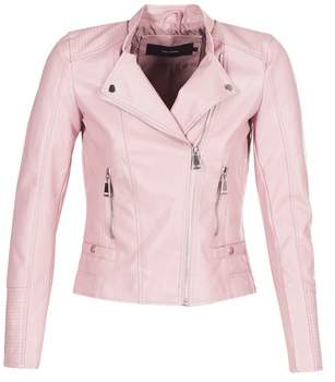 Vero Moda VMKERRI women's Leather jacket in Pink