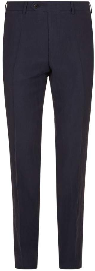 Canali Slim Silk-Linen Trousers