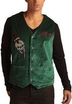 Ed Hardy Mens Cobra Embroidered Velvet Vest