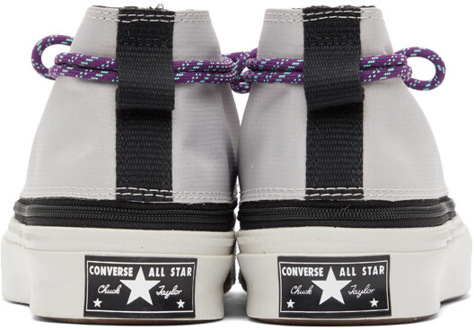 Thumbnail for your product : Converse Grey & Purple Deck Star Zip Sneakers