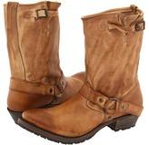 Vintage Shoe Company Eliza Engineer/Harness Tapered (Tan) - Footwear