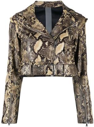 OMC python-print cropped jacket