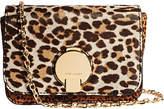 Karen Millen Leather Leopard Cross Body Bag, Multi