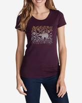 Eddie Bauer Women's Graphic T-Shirt - Floral Bear