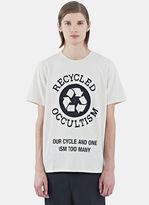 Yang Li Men's Occultism Crew Neck T-shirt In Off White