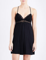 Eberjey Adeline jersey and lace chemise