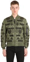 Marcelo Burlon County of Milan Roldan Alpha Ma1 Nylon Bomber Jacket