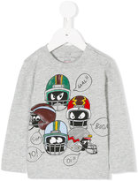 Stella McCartney Stella Helmet print T-shirt - kids - Cotton - 3 mth