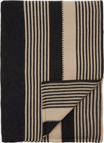 Armand Diradourian Whipstitched Stripe Throw
