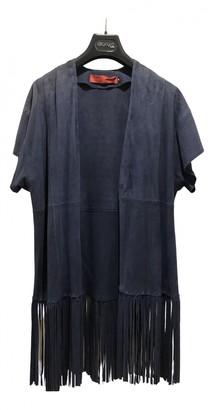 Giorgio & Mario Blue Leather Trench coats