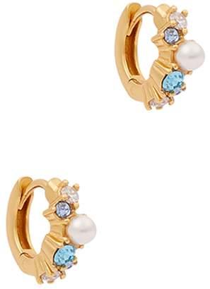 Olivia Burton Under The Sea Mini Gold-plated Hoop Earrings