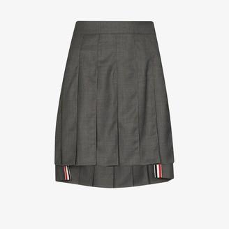 Thom Browne Pleated Wool Mini Skirt